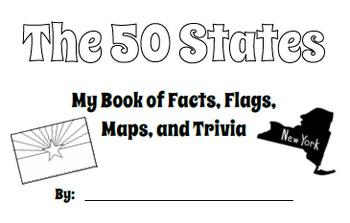 50 U.S. States - Printable Student Resource Book
