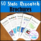50 US States Research Travel Brochures with Editable Check