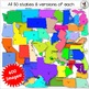 50 USA States Clip Art 400 images 8 versions of each