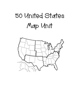 50 United States Map Unit by Julie McLendon | Teachers Pay Teachers