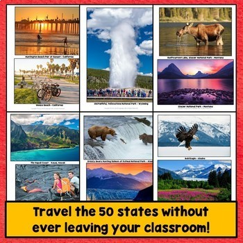 50 United States PowerPoint, Regions, Photos Bundle - All 50 States