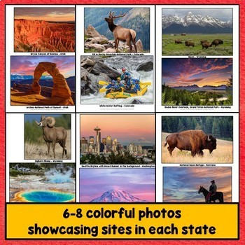 50 United States PowerPoint, Regions of the U.S., Photos Bundle - All 50 States