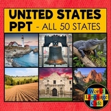 50 States PowerPoint, U.S. Regions, Photos, United States