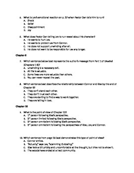 50 unwind multiple choice questions common core aligned by kevin rh teacherspayteachers com Anthem Study Guide Questions Sample of a Study Guide
