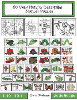 50+ Very Hungry Caterpillar Number Puzzles