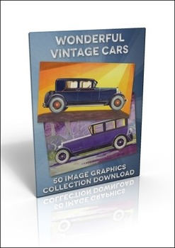 50 Vintage Car illustrations to do anything you like with!