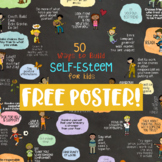 50 WAYS TO BUILD SELF-ESTEEM FREE POSTER! Classroom & Counseling Office Decor