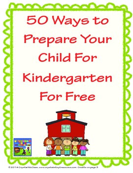 50 Ways To Prepare For Kindergarten For Free