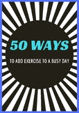50 Ways to Add Exercise to a Busy Day