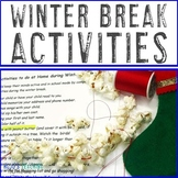 Christmas Break Activities to do at Home!