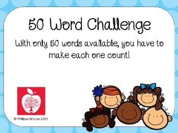 50 Word Challenge Answer Card