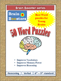 50 Word Puzzles (Vocabulary) from Brain Booster Series for 6-9th Grade students