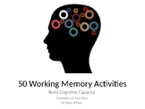 50 Working Memory Activities to Build Cognitive Capacity