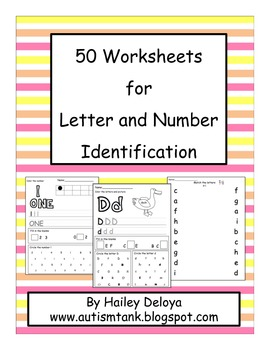 50 Worksheets for Number and Letter Identification