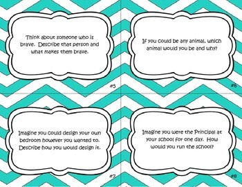 50 Writing Prompt Task Cards