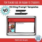 50 Writing Prompt Templates for Music Class PowerPoint & G