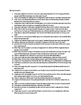 50 Writing Prompts 2