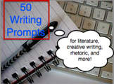 50 Writing Prompts for High School English Classes