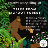50 Writing and Drawing Prompts, Tales From Bigfoot Forest, Fun Creative Activity