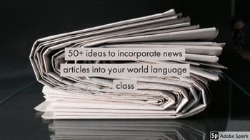 50+ activities to use with news articles