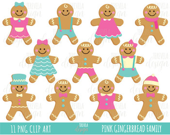 50% christmas cookies clipart, christmas clipart, gingerman cookies, pink