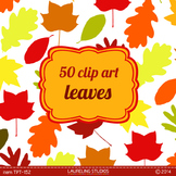 fall leaf clipart  50 .png leaves in solid autumn colors