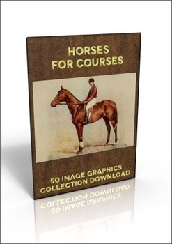 50 colour out-of-copyright images of horses to use for anything!