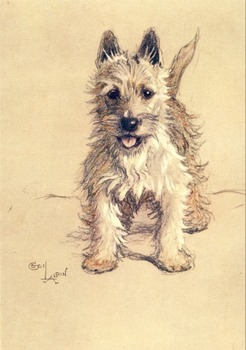 50 colour public domain Cecil Aldin dogs and horses etc to use for anything!