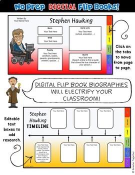 Thomas Edison Digital Biography Template