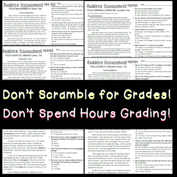 Multiple Choice Reading -Informational Edition Grades 3-5