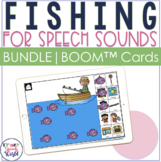 Articulation Fishing Boom Card™ BUNDLE for Speech Therapy