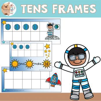 Space Theme Tens Frames