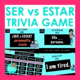 SER vs. ESTAR Jeopardy-Style Trivia Game | Spanish Review Game