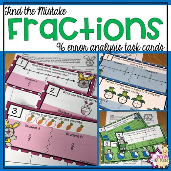 Find the Mistake: Fractions Bundle {Task Cards}