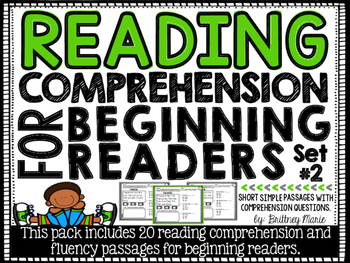 Reading Comprehension Passages for Beginning Readers Set 2