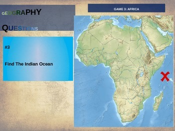 50 geography questions on an interactive map - AFRICA VERSION