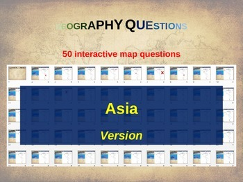 50 geography questions on an interactive map - ASIA VERSION