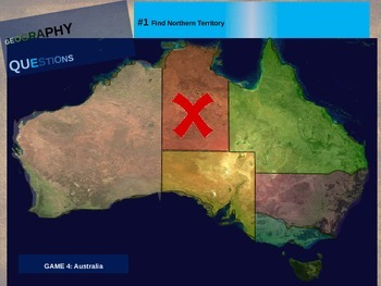 50 geography questions on an interactive map - AUSTRALIA VERSION