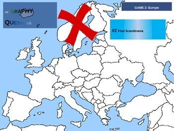 50 geography questions on an interactive map - EUROPE VERSION
