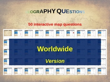 50 geography questions on an interactive map - WORLDWIDE VERSION