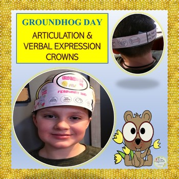 No Prep! Groundhog Day Crowns For Speech Therapy- Articulation & Phonology