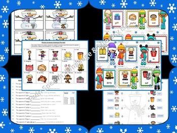 Snowy Synonyms & Antonyms: Screeners, & Worksheets!