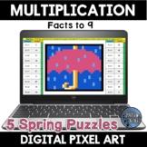 Multiplication Facts Spring Digital Pixel Art