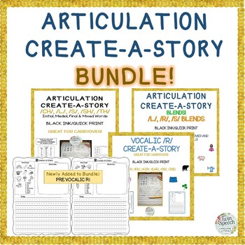 CREATE-A-STORY BUNDLE FOR LATER DEVELOPING SOUNDS-  Speech Carryover