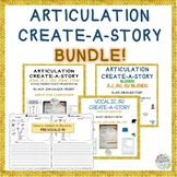 CREATE-A-STORY ARTICULATION BUNDLE! - 3rd to 12th Grade Speech Carryover