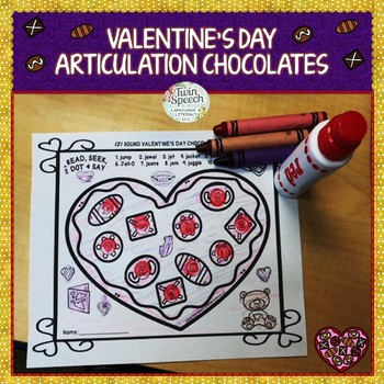 Valentine's Day Articulation Chocolates- NO PREP - Just Fun!