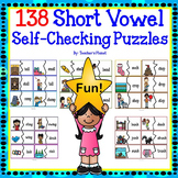 138 Short Vowel Self-Checking Puzzles