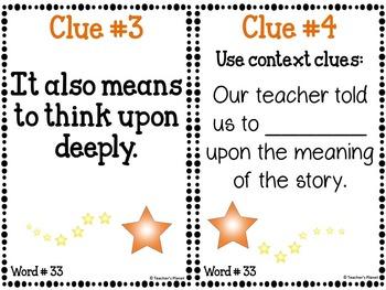 Academic Mystery Words Set 3