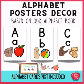 Alphabet Posters based on the Alphabet Book