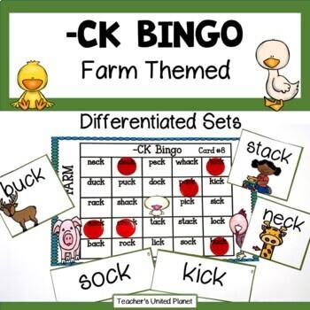 Phonics Bingo - CK Words
